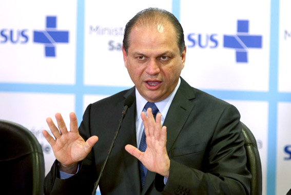 O ministro da Saúde Ricardo Barros