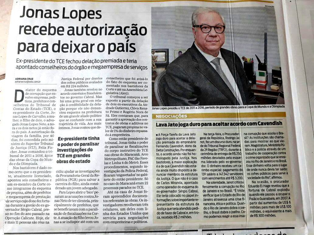 Jonas Lopes delata quase todo mundo e sai do país