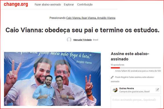 Abaixo assinado pede apoio em conselho de Arnaldo a Caio