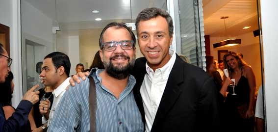 Os irmãos e diretores do Grupo Folha Aluysio e Christiano Abreu Barbosa