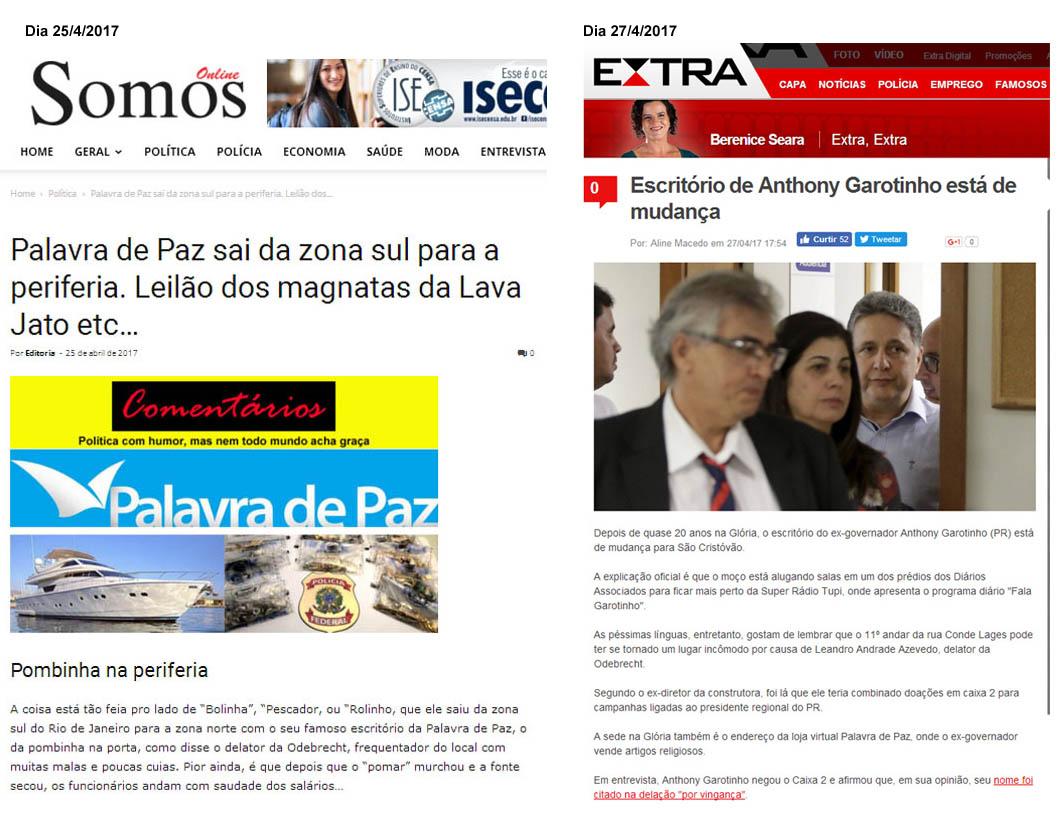 Somos Online antecipa mudança de Garotinho dois antes da imprensa carioca