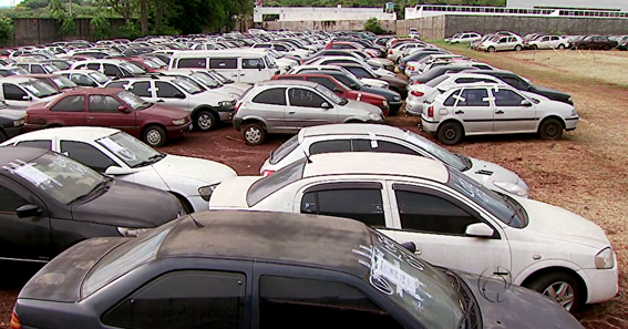 A exposição às intempéries acarreta uma acentuada deterioração dos veículos apreendidos