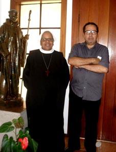 Ricardo Gomes em Petrópolis com a Madre Maria Auxiliadora