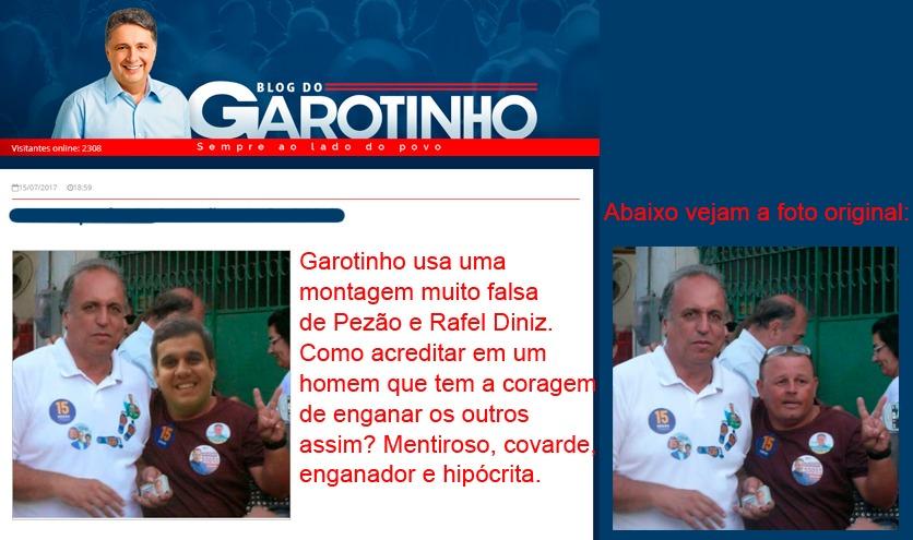 O desmascaramento completo da farsa montada por Garotinho está viralizando nas redes sociais