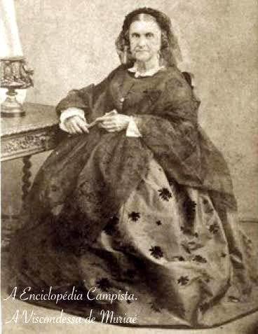 Baronesa e Viscondessa de Muriaé, dona Raquel Francisca Ribeiro de Castro