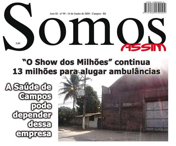 Parte da capa da Somos em 14 de junho de 2009
