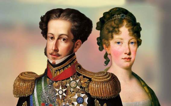 O Príncipe D. Pedro I e a Princesa Leopoldina de Habsburgo