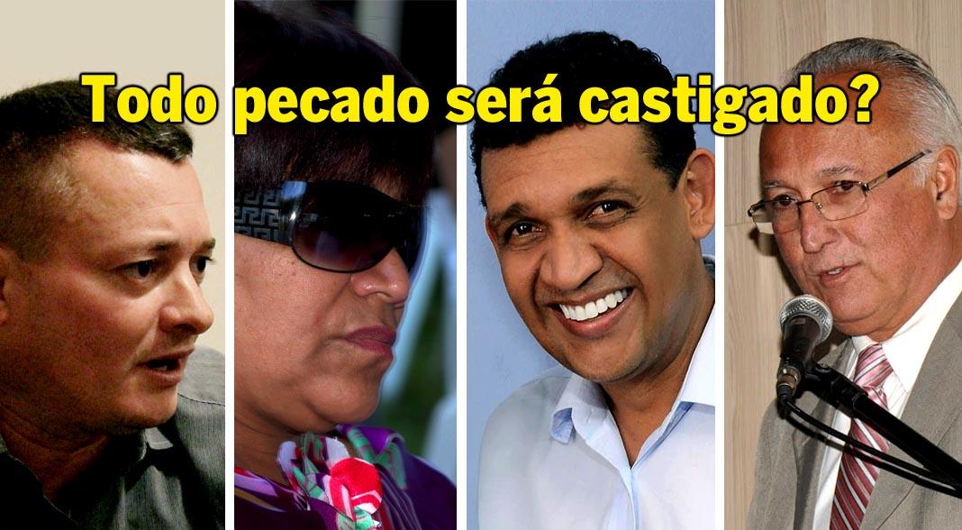 O juiz Ricardo Coimbra, da 76ª Zona Eleitoral condenou Linda Mara, Kellinho, Thiago Virgílio e Jorge Rangel a cinco anos e 4 mesas de cadeia