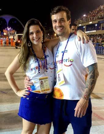 Clarissa Garotinho e o noivo Marcos Alvite