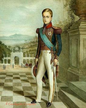 O Imperador aos 14 anos de idade retratado no Palácio Imperial da Quinta da Boa Vista - Rio de Janeiro