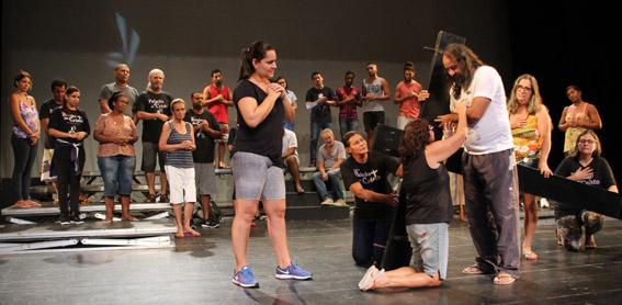 Ensaio do Grupo de Teatro Sacro Dom Carlos Alberto Navarro