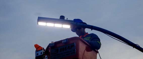 Campos recebe moderno sistema de iluminação